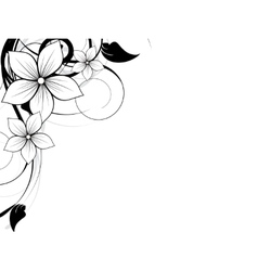 Floral spring element with swirls vector image vector image
