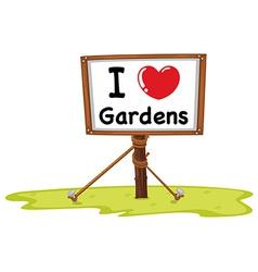 Gardens vector image vector image