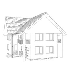outline house on the white background vector image