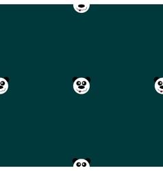 Seamless pattern panda vector image vector image