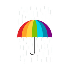 colorful umbrella for your design vector image