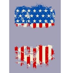 Grunge USA Flag Banner vector image vector image