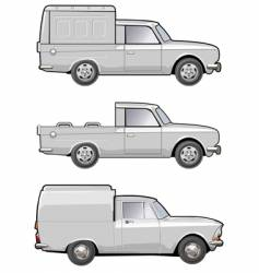 modifications delivery car vector image vector image
