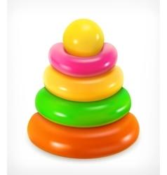 Toy pyramid icon vector image