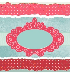 Vintage card template with copy space EPS 8 vector image