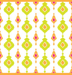 ethnic ikat seamless pattern vector image vector image
