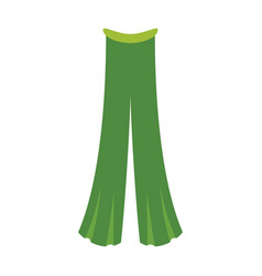 Icon in flat design fashion clothes pants vector