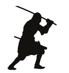 Ninja Warriors Theme vector image vector image