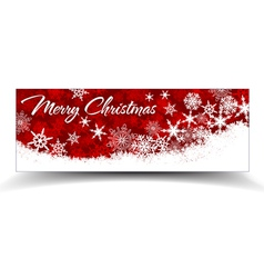 Snowflakes Christmas Web Banners Red vector image vector image