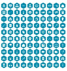 100 criminal offence icons sapphirine violet vector image