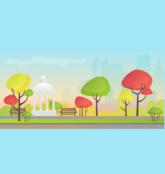 a beautiful autumn city vector image