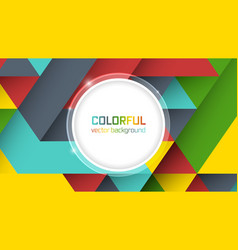 Abstract background with symmetrical colorful vector