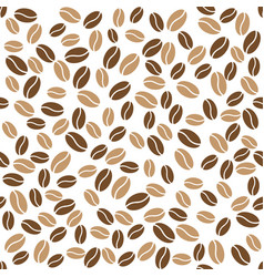 Abstract coffee beans pattern white background vector