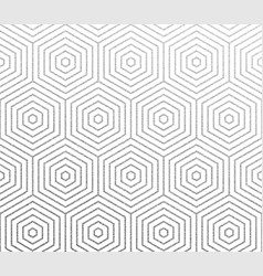 abstract geometric silver honeycomb pattern vector image