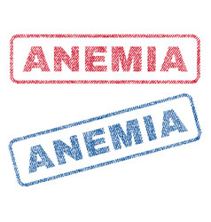 Anemia textile stamps vector