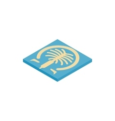 Artificial islands in Dubai icon vector image