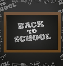 Back to scholl concept Education elements clip-art vector image