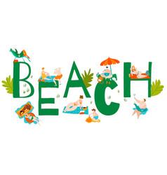 beach body positive plus size women in bikini vector image