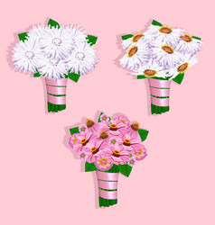 Beautiful wedding bouquet vector