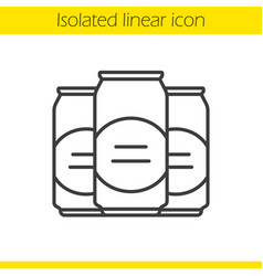 Beer cans linear icon vector