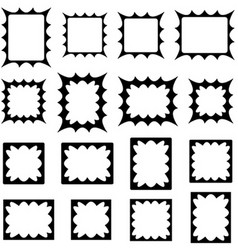 Black abstract shape frame design set vector image