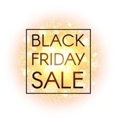 Black Friday sale banner on explosion background vector image