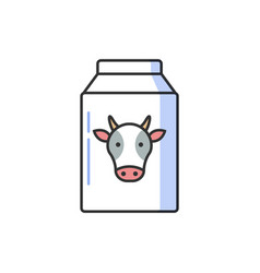 Bottle of milk with image of cow allergy vector