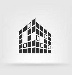 Buildings icon for company vector