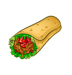 Burrito pop art vector