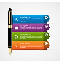 Business infographic design template Colored ink vector image