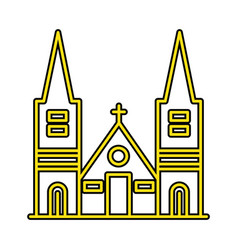 Chapel perfect icon or pigtogram in filled style vector