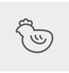 Chick thin line icon vector image
