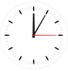 classic round wall clock vector image
