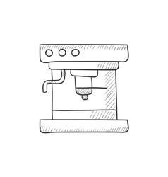 Coffee maker sketch icon vector image