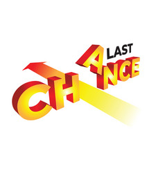 concept last chance in 3d vector image