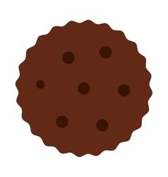 Cookies chocolate sweet dessert vector image