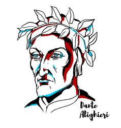 Dante alighieri portrait vector