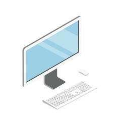 desktop computer isometric 3d icon vector image