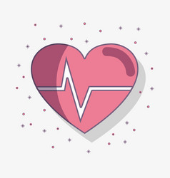 Flat line heartbeat cardio vital sign vector