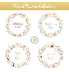 Floral frames with phrases vector