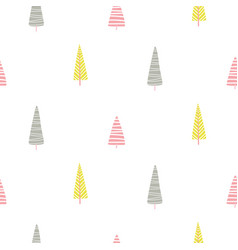 forest trees scandinavian simple cute print vector image