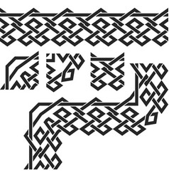 geometric border vector image
