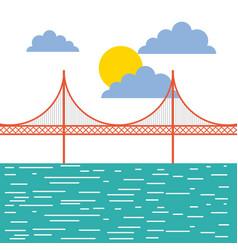 Golden gate san francisco usa image vector