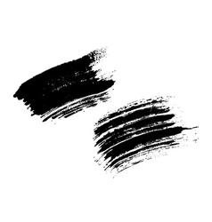 Grunge brushes texture set vector