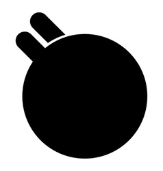 Hands holding fitness ball icon simple style vector