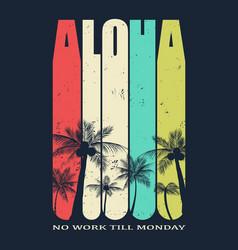 hawaii aloha vector image