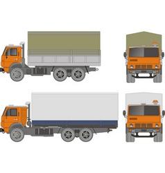 heavy truck vector image