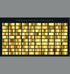Huge big collection golden gradients vector