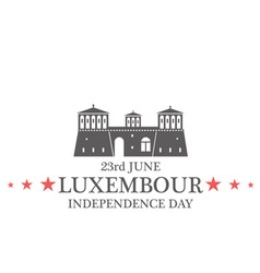 Independence Day Luxembourg vector