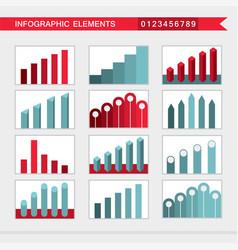 Infographic elements charts graph diagram vector
